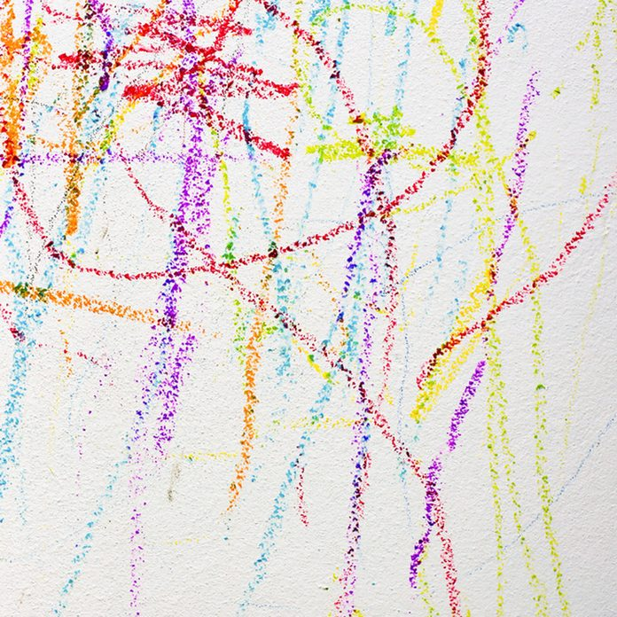 Crayon on walls