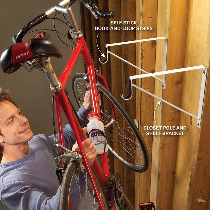 closet bracket bike rack