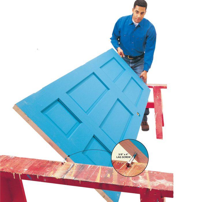 Topsy-Turvy Door Painting