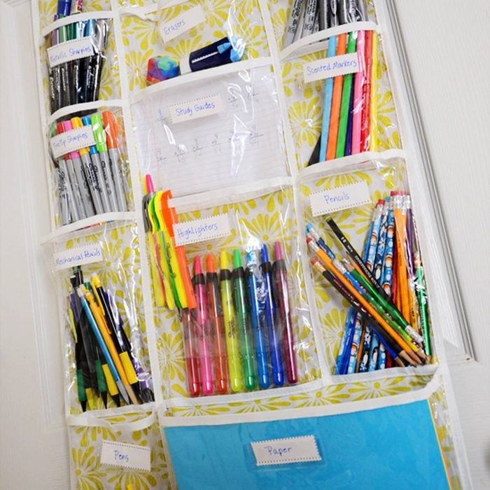 How to Be Organized for School: Use an Over-the-Door Shoe Organizer
