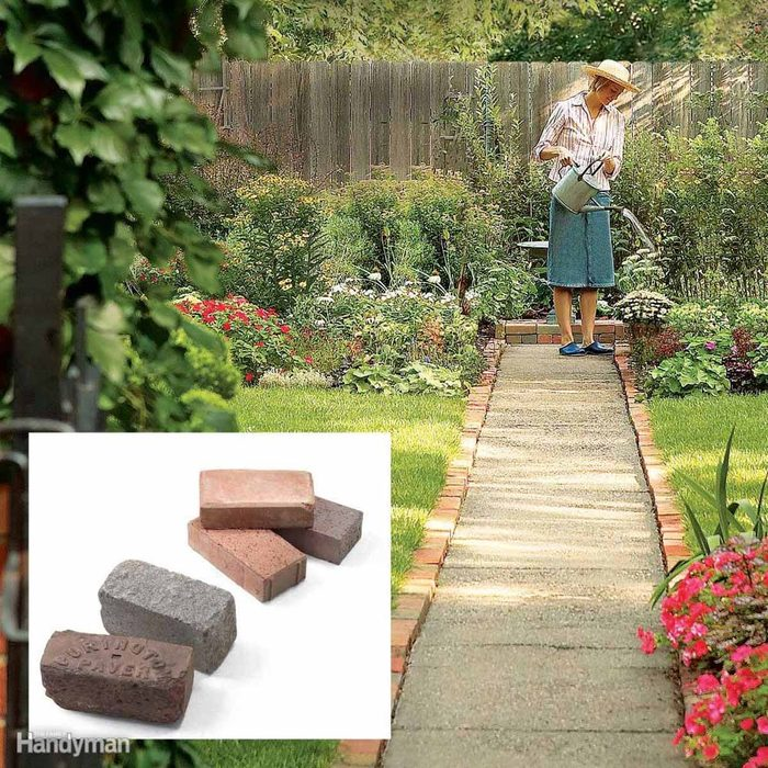 Line a Walkway With Bricks or Pavers