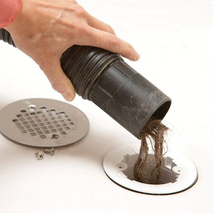 wet dry vacuum drain clogs