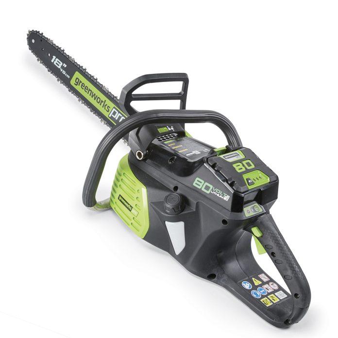 Greenworks cordless chain saw