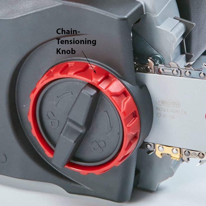 Tool-free chain tensioning