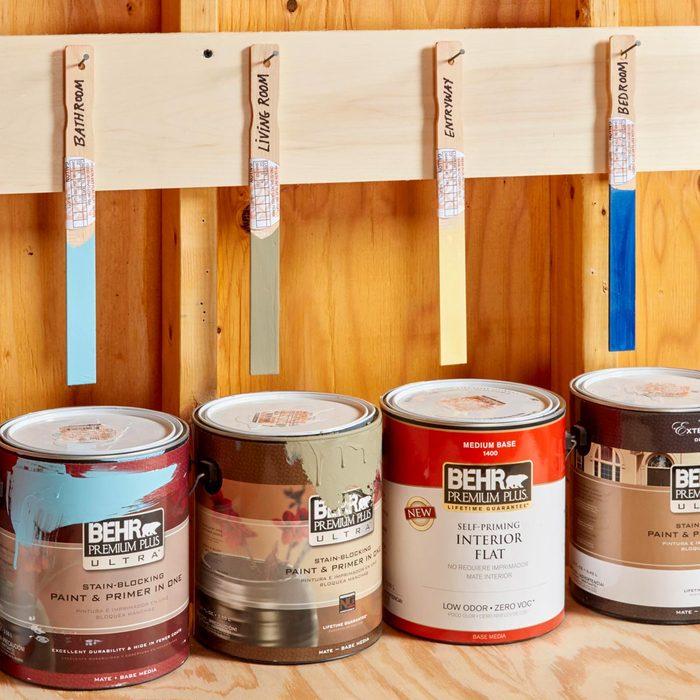 Stir-Stick Paint Organizer
