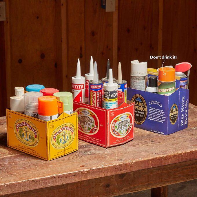 six pack beer shop garage organizer