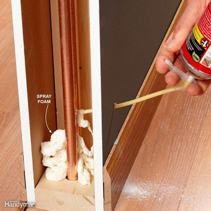 NEWFH14JUN_NOISES_28 spray foam insulation between pipes