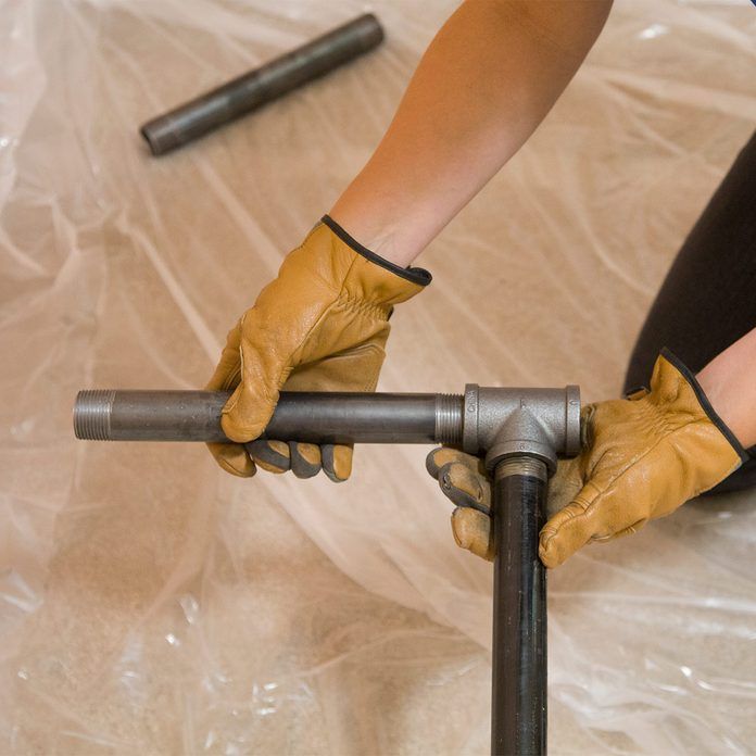 pipe desk leg cross pieces