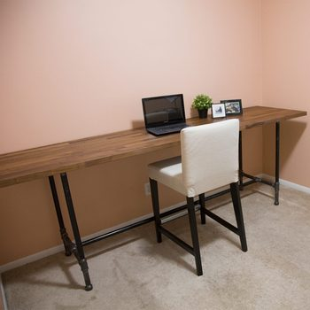 pipe desk finished-how-to-build-a-desk