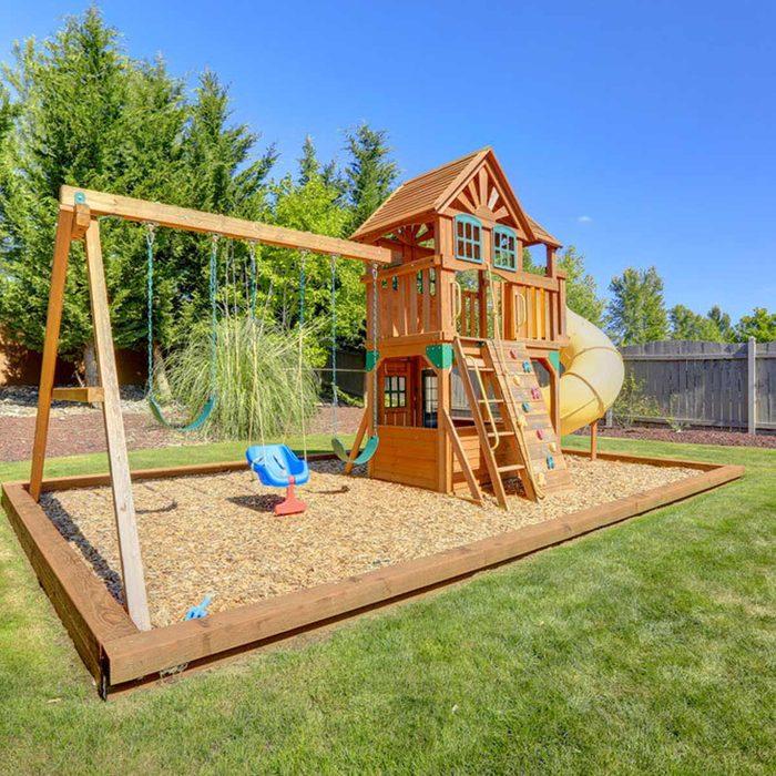 swings playhouse play ground