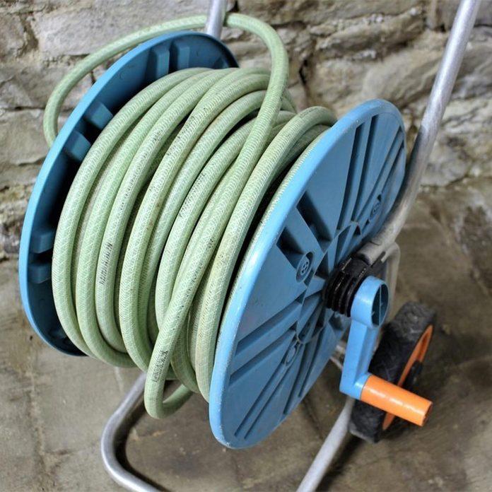 store hose hose reel storage outdoors