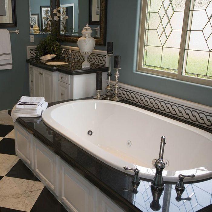 Think Diagonal Bathroom Tile