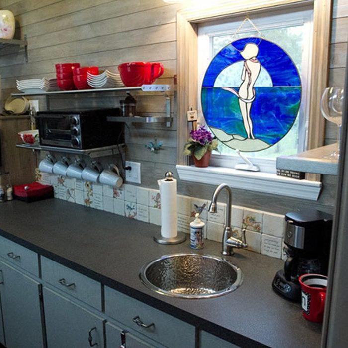 Tiny Home Kitchen Is Utilitarian