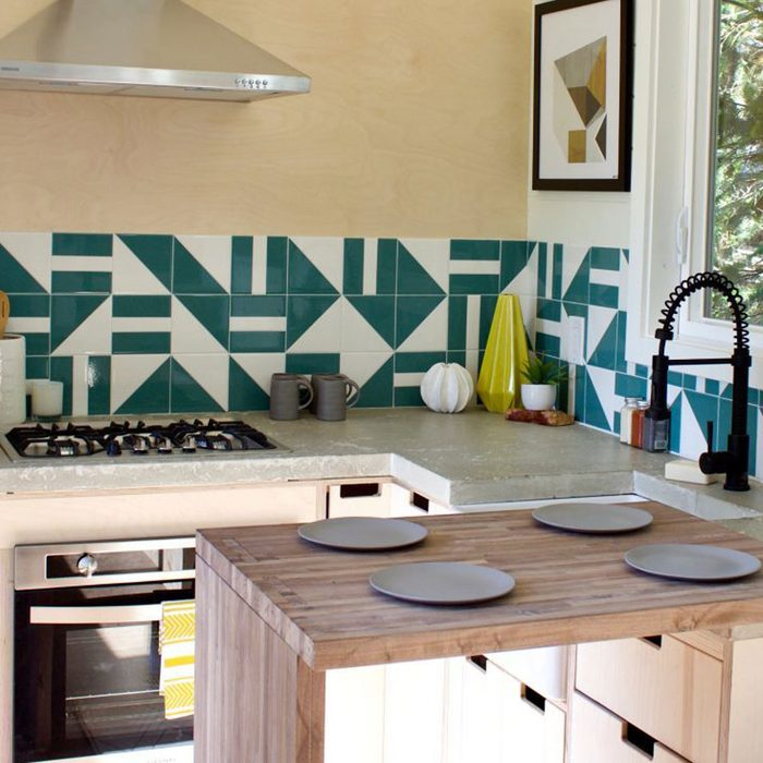 Tiny Home and Garden Kitchen is Modern and Spacious