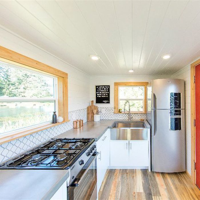 Modern Mountain Tiny Home's Kitchen Is Anything But Tiny
