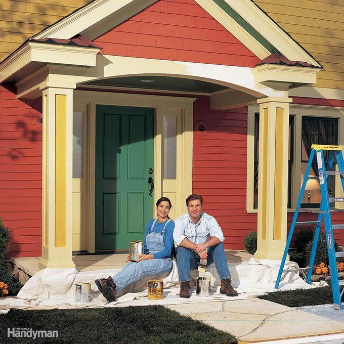 Exterior Paint Prep Ground Cover