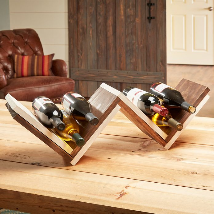 herringbone wine rack flash photo