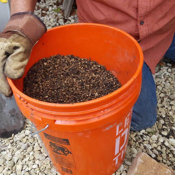 pavers_11 pea gravel bucket