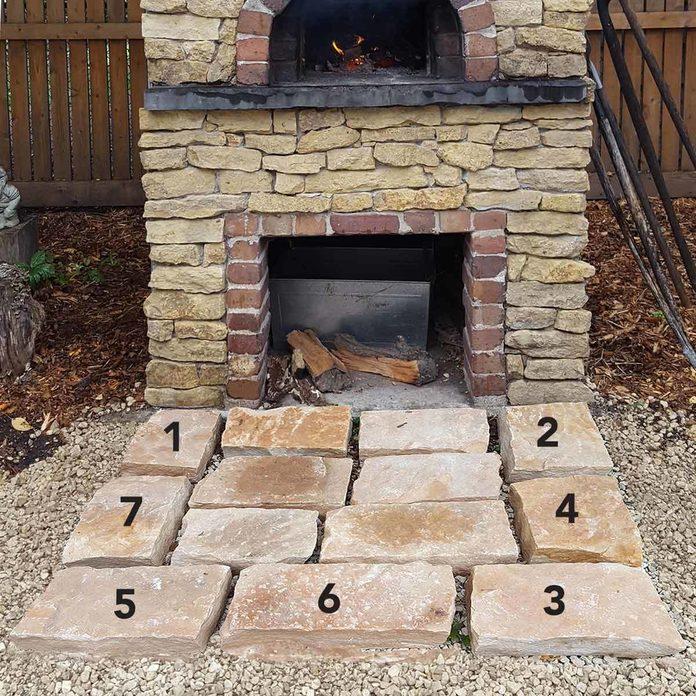 pavers_7 arrangement of brick pavers small patio pizza oven