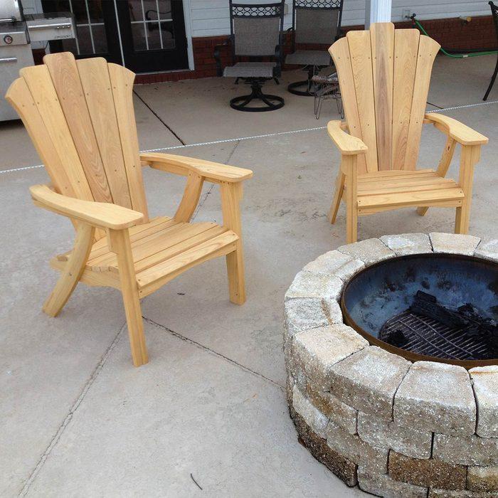 Twin Adirondack Chairs
