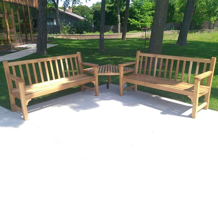 Classic Garden Bench Doubled