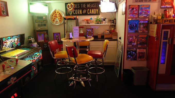 Man Cave Arcade Game Table