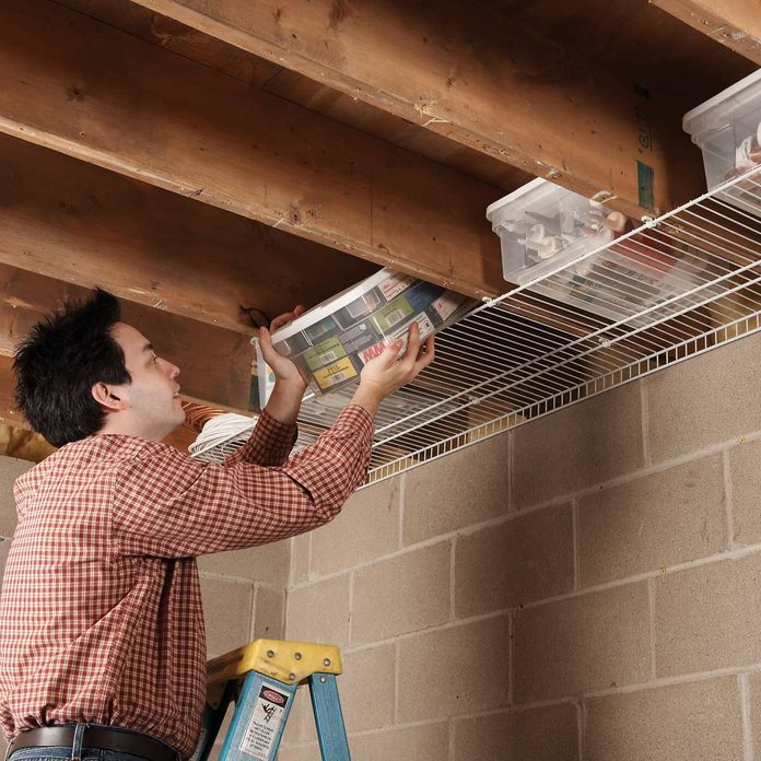 joist space saver storage solution wire shelving