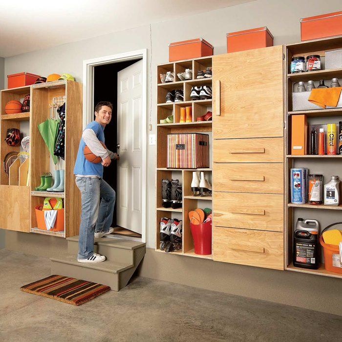 Garage Mudroom Organization