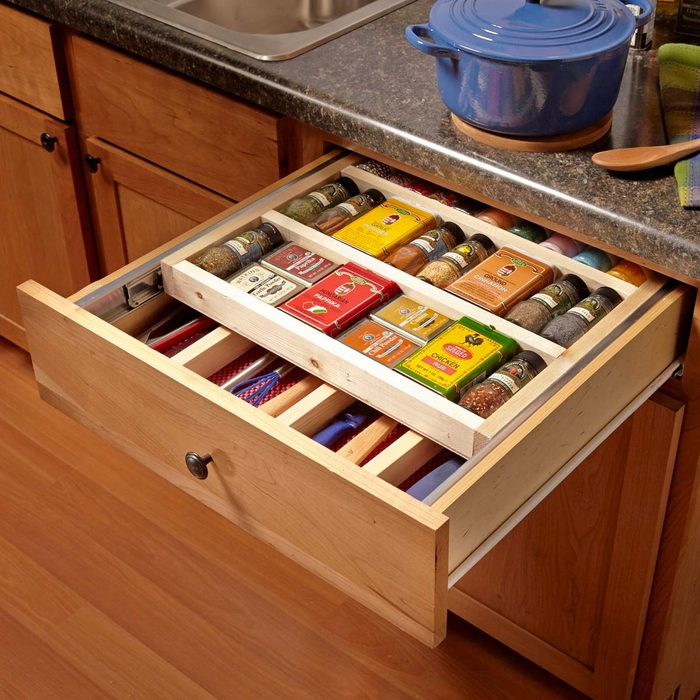 Two-Tier Spice Drawer