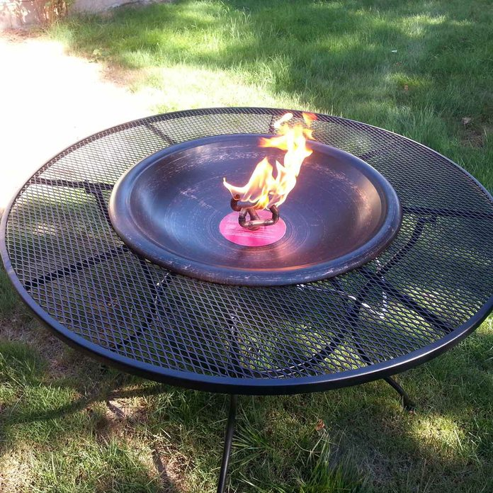 Patio table fire pit
