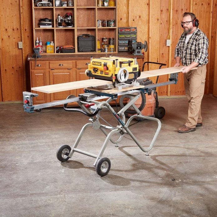 handy hint planer on miter saw stand