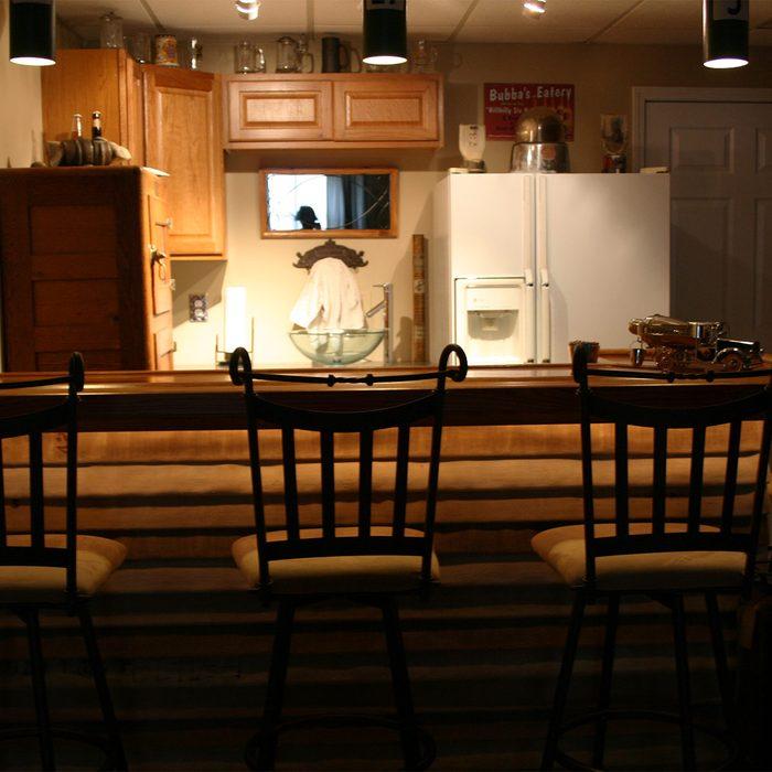 Firefighter Home Bar