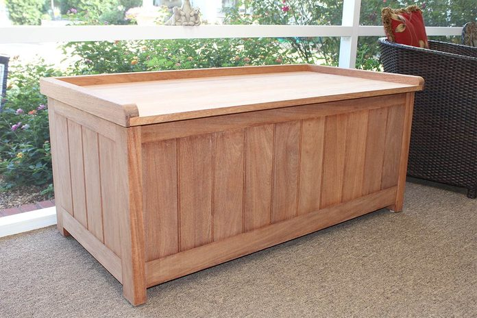Billy keith outdoor storage bench closed