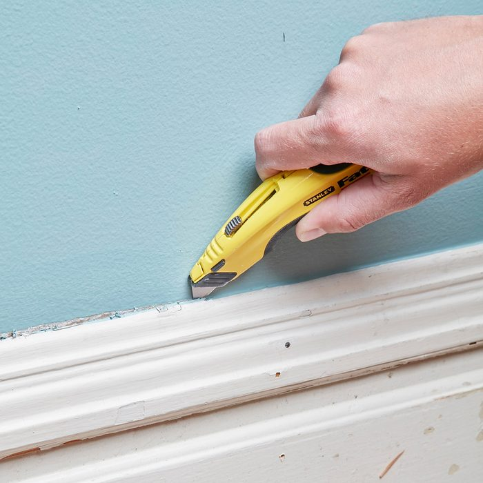 Slice the Paint away from the trim and the wall