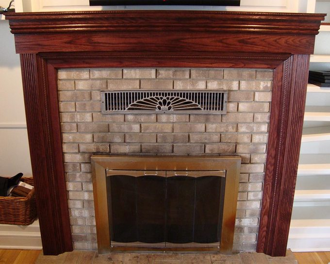 reader fireplace surround completed