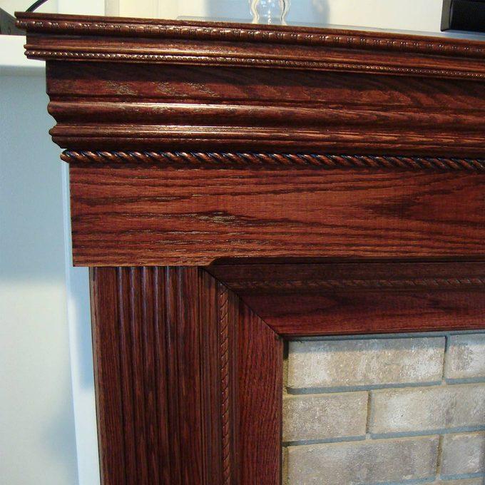 reader fireplace surround detail of corner