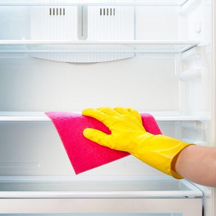 fridge_303843797 clean the fridge ready for thanksgiving