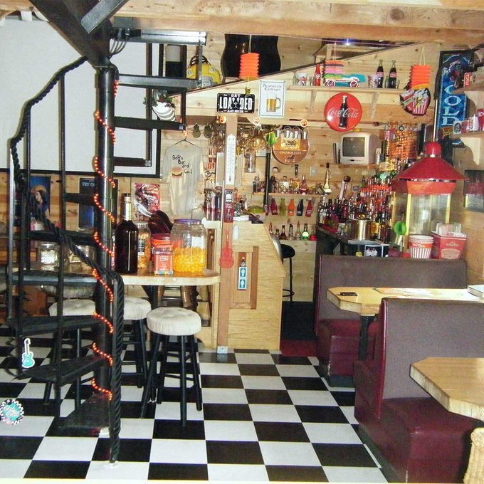 collectors mancave staircase