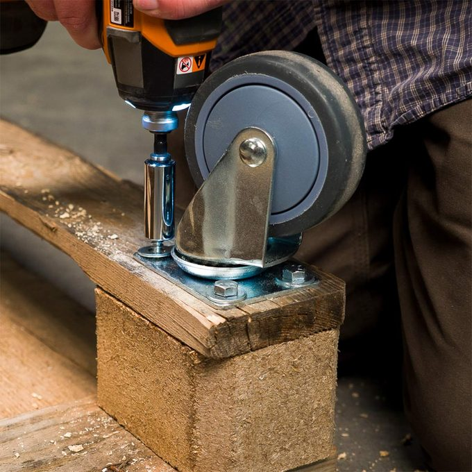 adding casters to pallet