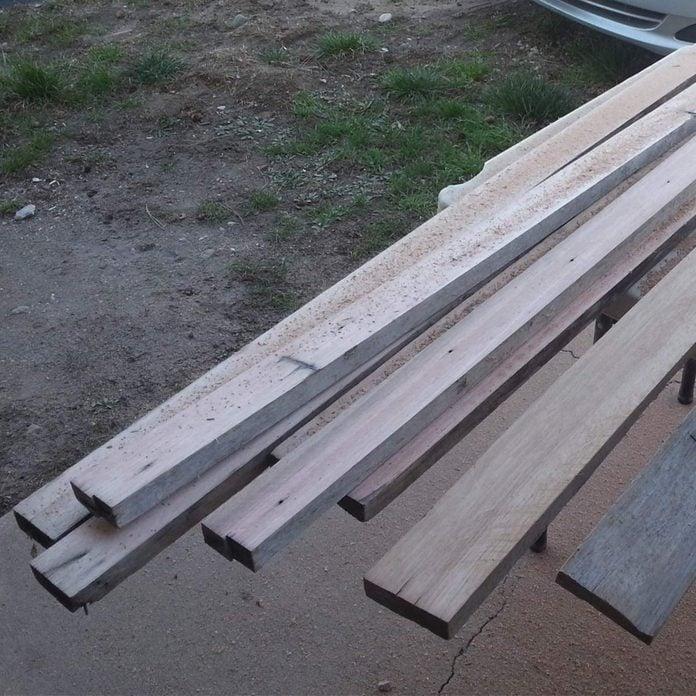 planed recycled ipe lumber