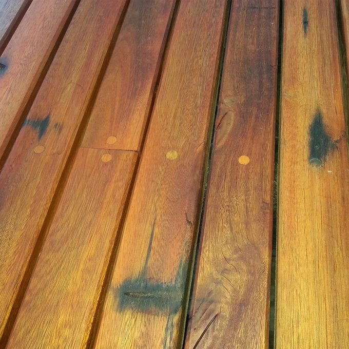 finished recycled ipe lumber