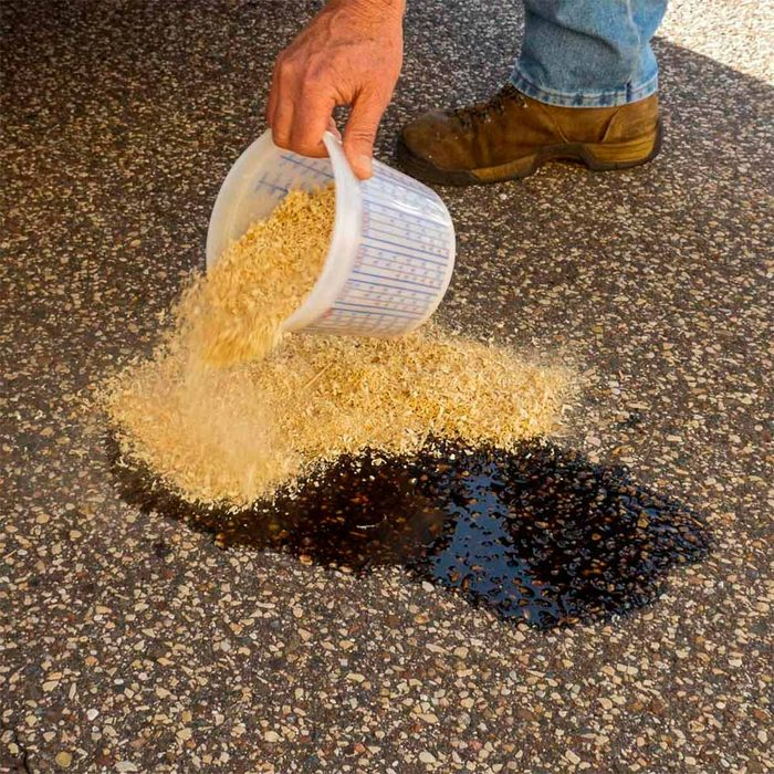 Use Sawdust to Soak Up Spills