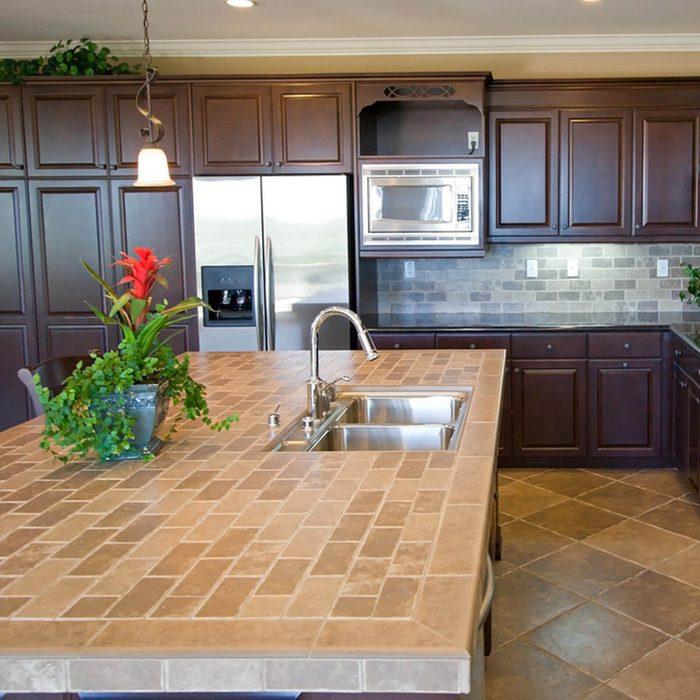 Cheap Kitchen Countertops Alternatives: Tile