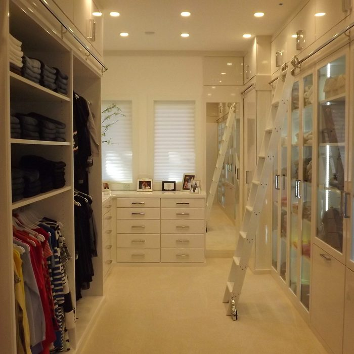 Walk-In in a Small Bedroom