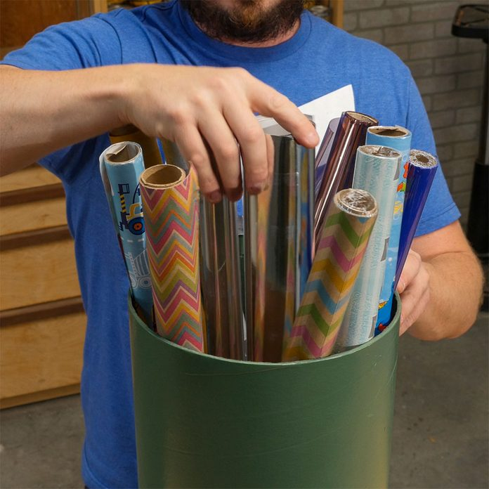 HH sonotube wrapping paper storage container