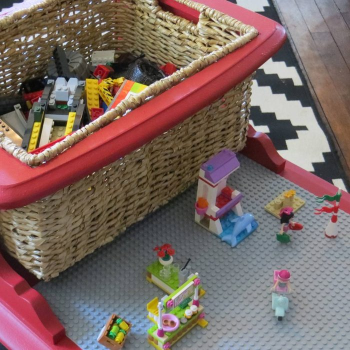 End Table Turned LEGO Table