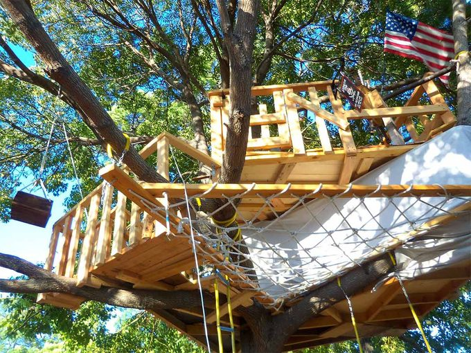 tree house from ground