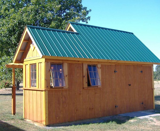 shed built by reader using TFH plans