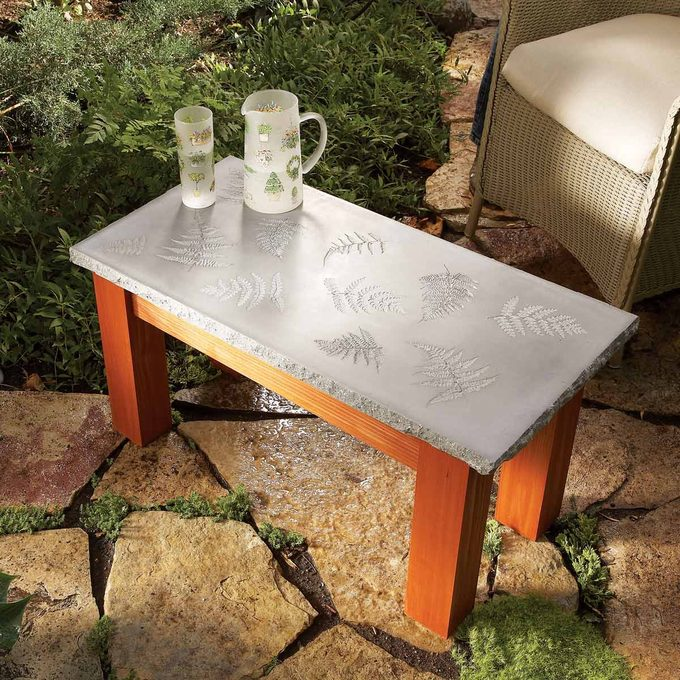 Polished Stone-Top Table