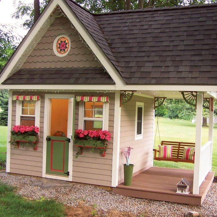 Exterior of large playhouse
